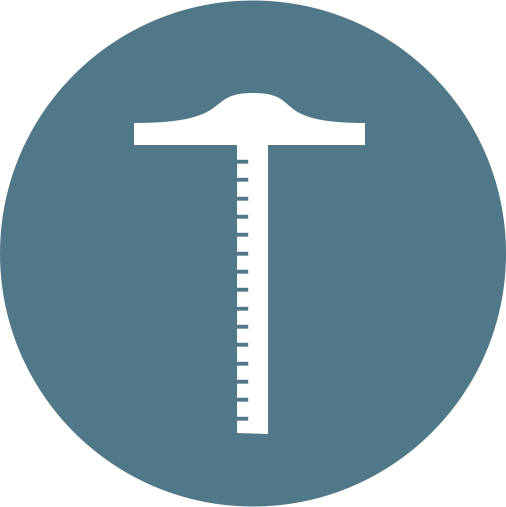 t-square ruler icon